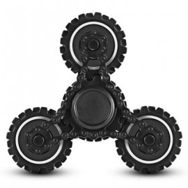 image of FOUR GEAR ROTATING TRILATERAL PATTERN ABS HAND SPINNER TOY (BLACK) -
