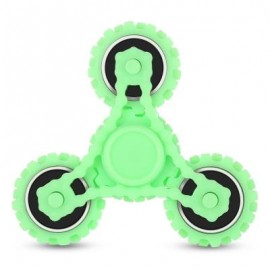 image of FOUR GEAR ROTATING TRILATERAL PATTERN ABS HAND SPINNER TOY (GREEN) -
