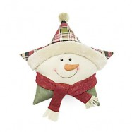 image of STUFFED CHRISTMAS SOFT PILLOW STAR SHAPE PLUSH DOLL TOY GIFT DECORATION (COLORMIX, SNOWMAN) Snowman