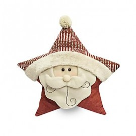 image of STUFFED CHRISTMAS SOFT PILLOW STAR SHAPE PLUSH DOLL TOY GIFT DECORATION (COLORMIX, WOOL SANTA CLAUS) Wool Santa Claus