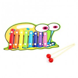 image of WOODEN 8 TONES HAND KNOCK PIANO (COLORMIX, LOVELY SNAIL) Lovely Snail