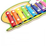 WOODEN 8 TONES HAND KNOCK PIANO (COLORMIX, LOVELY SNAIL) Lovely Snail