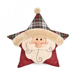 image of STUFFED CHRISTMAS SOFT PILLOW STAR SHAPE PLUSH DOLL TOY GIFT DECORATION (COLORMIX, SANTA CLAUS) Santa Claus