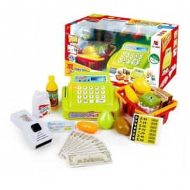 image of SIMULATION CASH REGISTER SCANNER KIT WITH SOUND / MUSIC PRETEND PLAY TOYS (COLORMIX) 0