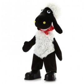image of 15 INCH SHEEP STYLE MUSICAL SHAKING HEAD PLUSH TOY STUFFED DOLL DECORATION GIFT (WHITE AND BLACK) -