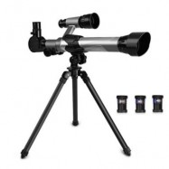 image of TELESCOPE KID EDUCATIONAL TOY CREATIVITY SPACE 3 EYEPIECES (BLACK + SILVER) 0