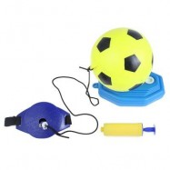 image of INFLATABLE FOOTBALL SET CHILDREN OUTDOOR INDOOR SPORT TOY (COLORMIX) -