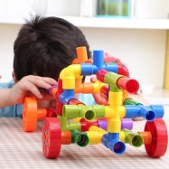 image of 72PCS WATER PIPE PLUG MATCH BUILDING BLOCKS DIY EDUCATIONAL TOY (COLORMIX) 0