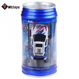 image of 4CH HIGH SPEED REMOTE CONTROL MINI RADIO RACING COLA CAR VEHICLE TOY (BLUE) 13.00 x 6.50 x 6.50 cm