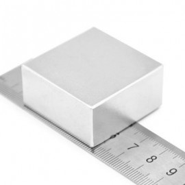 image of 35 X 35 X 15MM N52 STRONG NDFEB SQUARE MAGNET BIRTHDAY DIY INTELLIGENT GIFT (SILVER) -