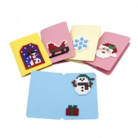 image of RM630 DIY CHRISTMAS CARD BEAD KIT CREATIVE GIFT TOY (COLORMIX) -