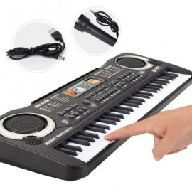 image of MULTI-FUNCTION 61 KEYS KEYBOARD ELECTRONIC ORGAN WITH MICROPHONE MUSIC SIMULATION PIANO CHILDREN TOYS (BLACK) 0