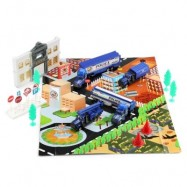 image of XIONGFENGDA ALLOY 1:72 SCALE POLICE DEPARTMENT SET FOR KIDS (BLUE) -