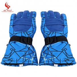 image of BENICE MEN WOMEN WARM WINDPROOF MOTORCYCLE CYCLING SKIING GLOVES (BLUE) L