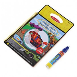 image of MAGIC TRANSPORTATION WATER DRAWING BOOK TOY PAINTING BOARD FOR KIDS WITH WATERCOLOR PEN (COLORMIX) One Size