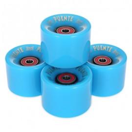 image of 4PCS 60 X 45MM OUTDOOR SPORT SKATEBOARDING WHEEL SKATE BEARING (BLUE) -
