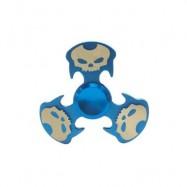 image of COOL SKULL FOCUS TOY METAL HAND FIDGET SPINNER (BLUE) -