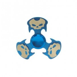 image of COOL SKULL FOCUS TOY METAL HAND FIDGET SPINNER (BLUE) -