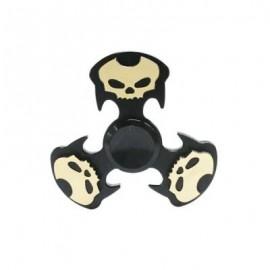 image of COOL SKULL FOCUS TOY METAL HAND FIDGET SPINNER (BLACK) -