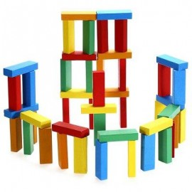image of BUILDING BLOCK BRICK TOY FOR KID EDUCATION - 51PCS / SET (COLORMIX) -