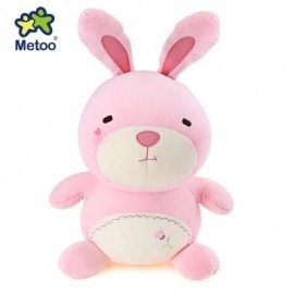 image of METOO ANIMAL PLUSH DOLL TOY BIRTHDAY CHRISTMAS GIFT FOAM GRANULE FILLER (SHALLOW PINK) -