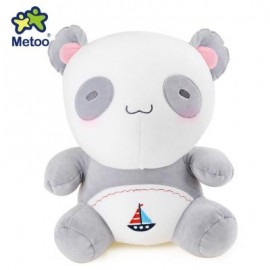 image of METOO ANIMAL PLUSH DOLL TOY BIRTHDAY CHRISTMAS GIFT FOAM GRANULE FILLER (DEEP GRAY) -
