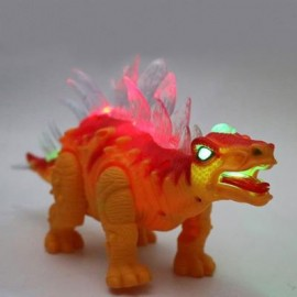 image of RONGKAI REALISTIC ELECTRIC ANIMAL MODEL STEGOSAURUS FOR KIDS (YOLK YELLOW) -