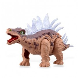 image of RONGKAI REALISTIC ELECTRIC ANIMAL MODEL STEGOSAURUS FOR KIDS (BROWN) -