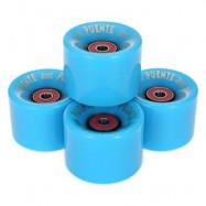 image of 4PCS 60 X 45MM OUTDOOR SPORT SKATEBOARDING WHEEL SKATE BEARING (BLUE) 6.00 x 6.00 x 4.50 cm