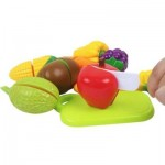 EARLY CHILDHOOD EDUCATION BIG BASKET FRUITS VEGETABLES TOY (COLORMIX) 0