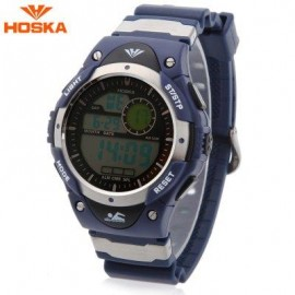 image of HOSKA H013B CHILDREN LED DIGITAL WATCH DATE DAY ALARM DISPLAY 5ATM SPORTS WRISTWATCH (BLACK) 0