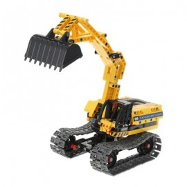 image of 2 IN 1 ENGINEERING EXCAVATOR ASSEMBLED BLOCKS TOY 342PCS (YELLOW) 0