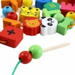 MUWANZI WOODEN DESKTOP BEADED TOYS EDUCATIONAL GAME (COLORMIX) LETTER