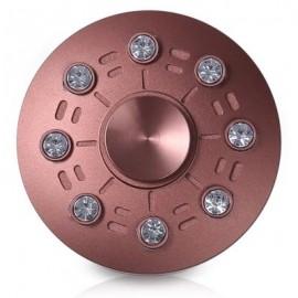 image of FAUX DIAMOND UFO SAUCER SHAPE FIDGET METAL SPINNER (ROSE GOLD) -