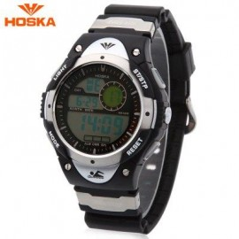image of HOSKA H013B CHILDREN LED DIGITAL WATCH DATE DAY ALARM DISPLAY 5ATM SPORTS WRISTWATCH (SILVER) 0