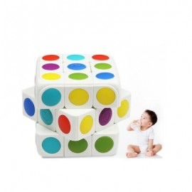 image of CHILDREN'S EDUCATIONAL TOYS INTELLIGENT RUBIK CUBE APP INTERACTIVE REDUCTION THREE ORDER (WHITE) SIZE : 5.5 X 5.5 X 5.5 CM