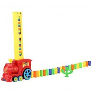image of CLASSIC DOMINO RALLY TRAIN TOY SET IDEAL BIRTHDAY CHRISTMAS GIFT (COLOURMIX) 16.50 x 10.50 x 7.00 cm