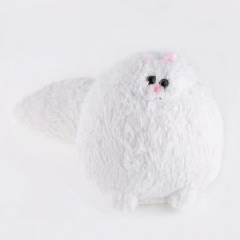 image of STUFFED CUTE SIMULATION PERSIAN CAT PLUSH DOLL TOY BIRTHDAY CHRISTMAS GIFT FOR BABY (WHITE) -