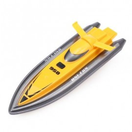 image of HUANQI 958A 2.4G 2CH 1:10 SCALE MINI RC BOAT TOY (YELLOW) -