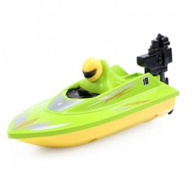 image of HUANQI 958A 2.4G 2CH 1:10 SCALE MINI RC BOAT TOY (GREEN) -