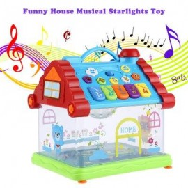 image of KUNSHENG FUNNY MUSICAL HOUSE PIANO ELECTRIC STARLIGHTS KIDS EARLY INTELLIGENT GIFT TOY (COLORMIX) -