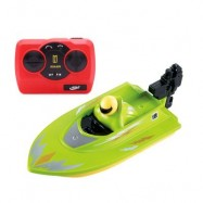 image of HUANQI 958A 2.4G 2CH 1:10 SCALE MINI RC BOAT TOY (GREEN) 46.00 x 12.50 x 11.80 cm