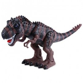 image of REALISTIC ELECTRIC ANIMAL MODEL TYRANNOSAUR BATTERY OPERATED ASSEMBLE DINOSAUR TOY GIFT FOR KIDS (DEEP BROWN) -