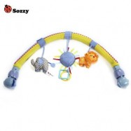 image of SOZZY STROLLERS CAR CLIP LATHE STRAP TOY (BLUE) -