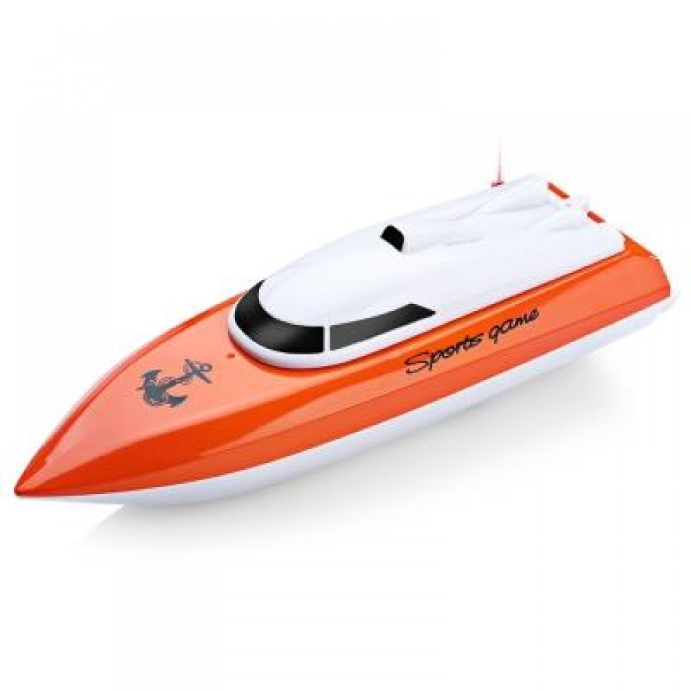 802 REMOTE CONTROL YACHT MODEL SHIP SAILING ELECTRIC TOY (ORANGE) -