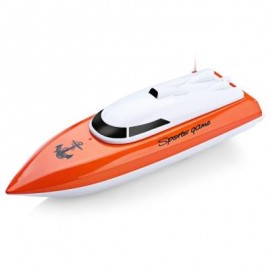 image of 802 REMOTE CONTROL YACHT MODEL SHIP SAILING ELECTRIC TOY (ORANGE) -