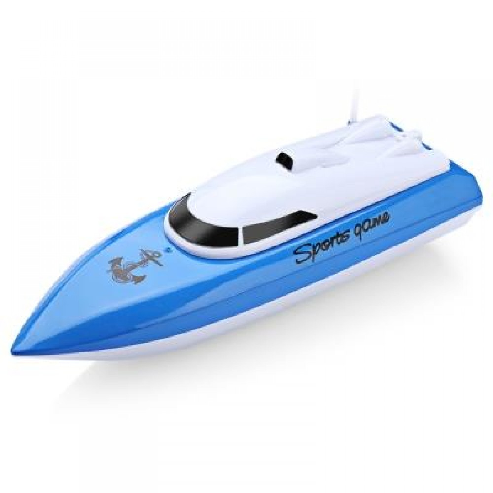 802 REMOTE CONTROL YACHT MODEL SHIP SAILING ELECTRIC TOY (BLUE) -