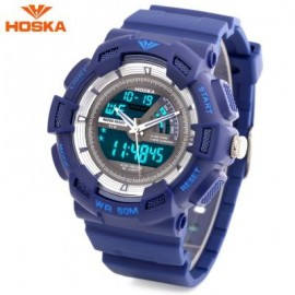 image of HOSKA HD030B CHILDREN QUARTZ DIGITAL WATCH LED CALENDAR CHRONOGRAPH ALARM WRISTWATCH (BLUE) 0