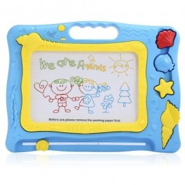 image of KIDS MEDIUM-SIZED MAGIC DRAW SKETCH TABLET BOARD TOY CHRISTMAS PRESENT WITH PEN (COLORMIX) -