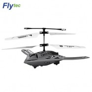 image of FLYTEC TY920 2-CHANNEL INFRARED REMOTE CONTROL AIRPLANE (GRAY) 0